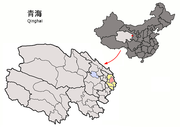 Location of Ledu within Qinghai (China).png