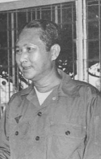 Khmer National Armed Forces - General Lon Nol, President of the Khmer Republic.