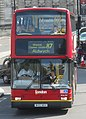 London General bus PVL93 (W493 WGH) 2000 Volvo B7TL Plaxton President, Trafalgar Square, route 87, 13 June 2011.jpg