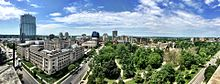 London Ontario Downtown overlooking Victora Park from the City Hall observation deck.