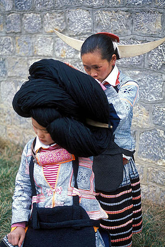 Ethnic minorities in China - The Long-horn tribe, a small branch of ethnic Miao in the western part of Guizhou Province