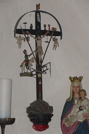 Longinus cross - A Longinus Cross in St Martin's Chapel, nr Schönwald