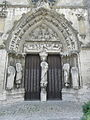 Longpont-sur-Orge (91) Basilique Portail occidental 02.JPG