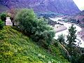 Looking upriver from Gandhola Monastery. 2004.jpg