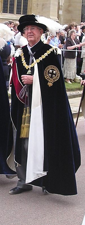 John Sainsbury, Baron Sainsbury of Preston Candover - Lord Sainsbury in the robes of a Knight of the Garter