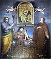 Lorenzo Lippi, i Santi Giuseppe, Antonio di Padova e Torello con un lupo, 1664; Pier Francesco Fiorentino, Madonna con il Bambino e San Giovannino, seconda metà sec. XV.jpg
