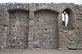 Lorrha Priory of St. Ruadhan Nave North Wall Alcoves and Window 2010 09 04.jpg