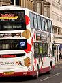 Lothian Buses bus 882 Volvo B9TL Wrightbus Eclipse Gemini SN08 BWU Harlequin livery.jpg