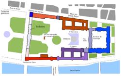 Χάρτης του Λούβρου και των Κήπων του Κεραμεικού