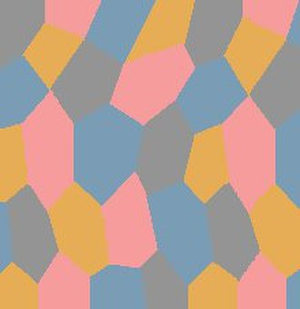 Lozenge camouflage - A light-toned four-color, or Vierfarbiger lozenge camouflage pattern typical of daytime operations for underside use