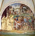 Luca Signorelli - Life of St Benedict, Scene 27 - Benedict Benedict Discovers Totila's Deceit - WGA21274.jpg