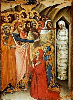 Luca di Tomme. The raising of Lazarus. before 1362.Pinacoteca Vatican.jpg