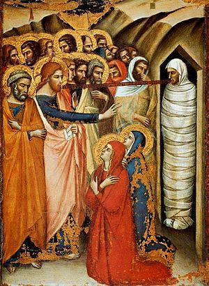 Luca di Tommè - Image: Luca di Tomme. The raising of Lazarus. before 1362.Pinacoteca Vatican