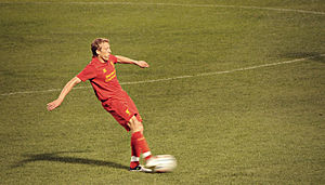 Lucas Leiva - Lucas playing for Liverpool in 2012
