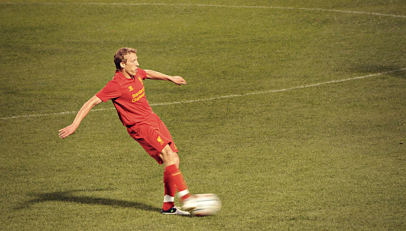 Lucas Leiva solidified the Liverpool midfield in his return from another long-term injury in the team's 1-0 win over Southhampton at Anfield this weekend. (Courtesy md.faisalzaman Wikicommons)
