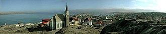 Lüderitz - View of Felsenkirche and Lüderitz