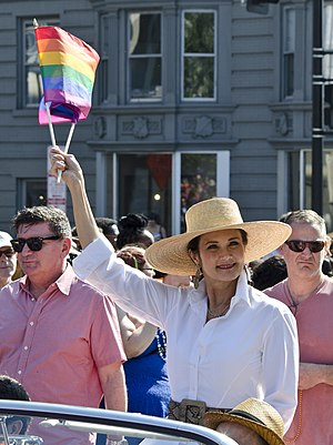 Lynda Carter - Carter as the Grand Marshal at Gay Pride in Washington, D.C. in 2013
