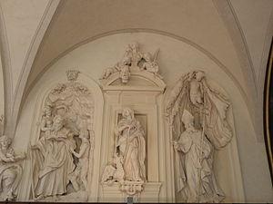 Annemund - Saints Antoine, Marguerite and Ennemond(right) in St Peter Palace, Lyon