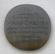 Hans Carossa - WikiVisually