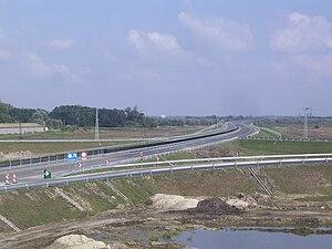 M43 motorway (Hungary) - Image: M43 Szeged Sándorfalva közelében 2 2010 09 13