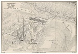 Battle of Abu Klea - Map of the Battle Field of Abu-Klea