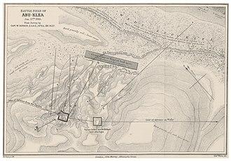 Battle of Abu Klea - Map of the Battle Field of Abu-Klea