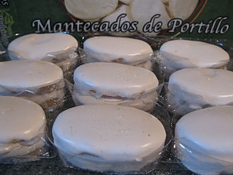 Cuisine of Valladolid - Mantecado of Portillo.