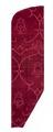 MCC-42191 Rood fluweel met uitsparingen van ranken in spitsovaal waarin granaatappelknop (1).tif