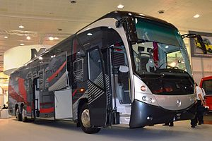 Manufacturing Commercial Vehicles - Modern MCV 600 3-axles comfort coach at the IAA 2014.