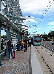 METRO Light Rail Loop-101 Station Train Arrival
