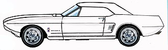 Ford Mustang II (concept car) - 1963 Ford Mustang II sketch