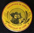 Macarons de Nancy, Chocolat de Luxe tin, etab L Chambon, Nantes.JPG