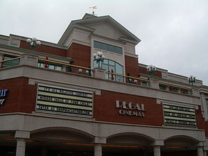 MacArthur Center - Exterior view of MacArthur Center's food court balcony