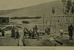 Greater Khorasan - An early turquoise mine in the Madan village of Khorasan during the early 20th century