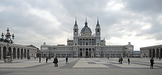 Almudena Cathedral - Image: Madrid cathedral Spain exterior