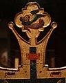 Maestro espressionista di santa chiara, croce processionale, umbria 1320 ca. 07 angelo.jpg