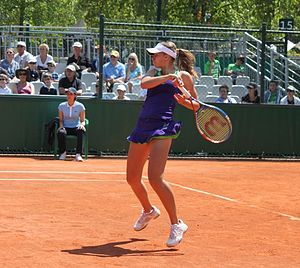 Magda Linette - Magda Linette at the 2011 French Open