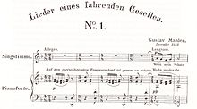 Three staves of printed music showing the vocal line and the piano accompaniment of the first few bars