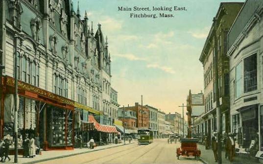 Main Street, Looking East, Fitchburg, MA