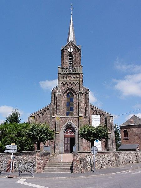 Mairieux (Nord, Fr) église, façade