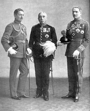 Geoffrey Salmond - Geoffrey (pictured left) with his father and brother John