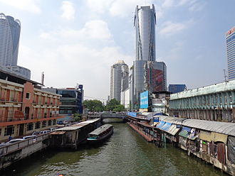 Khlong Saen Saep - A major ferry stop on the canal, 2013.