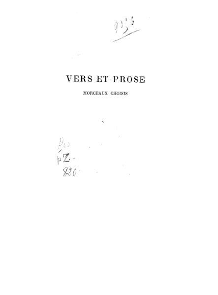 File:Mallarmé - Vers et prose.djvu