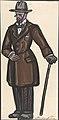 Man wearing a brown overcoat, cane and pince-nez MET DP804835.jpg