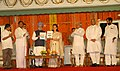 Manmohan Singh releasing 'Report to the People 2004-07' and giving a copy to the Chairperson, UPA, Smt. Sonia Gandhi on the occasion of Third anniversary of the UPA Government, in New Delhi on May 22, 2007.jpg