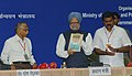 """Manmohan Singh releasing a book titled """"National Strategic Statistical Plan"""" at the inauguration of the National Conference of Minister In-charge of Statistics of StatesUTs., in New Delhi on September 09, 2008.jpg"""