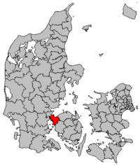 Lokalisering af Middelfart Kommune