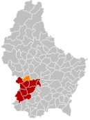 Localisation de Septfontaines au Luxembourg
