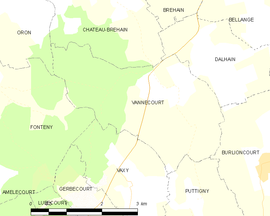 Mapa obce Vannecourt