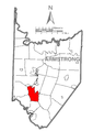 Map of Bethel Township, Armstrong County, Pennsylvania Highlighted.png